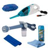Kit Auto Esguicho, aspirador, luva, Toalha mágica e Microfibra - Vendasshop utensílios limpeza