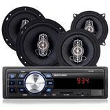 Kit Automotivo MP3 com 4 Alto Falantes AU954 - Multilaser