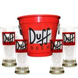 Kit Balde Cerveja + 4 Tulipa Duff Home Bar - Decore fácil shop