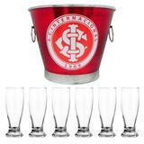 Kit balde de gelo time internacional 6l+6 taças munich 200ml - Predileta