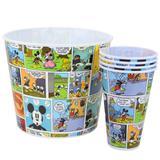 Kit Balde De Pipoca e Copos Mickey Hq Colors 10140060 - Zona criativa