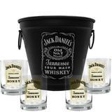 Kit Balde Fosco + 4 Copos Jack Daniels Mel\Honey 290ml Whisky - Decore fácil shop