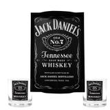 Kit Bandeja (P) + 2 Copos Jack Daniels  290ml Whisky - Decore fácil shop