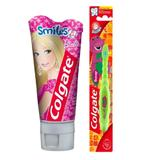 Kit Barbie Colgate Gel Dental 100g + Escova Dental Smiles - BARBIE