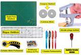 Kit Base De Corte 60x45 +régua 15x60 + Alicate Prega Botões - Levolpe