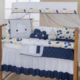 Kit Berço 10 Peças Coleção Nuvenzinha Azul Marinho - Reluz cortinas