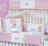 Kit Berço Americano 9 peças 100 Algodão Princess - I9 baby