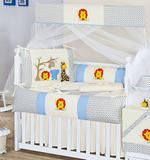 Kit Berço Americano 9 peças 100 Algodão Safari - I9 baby