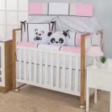 Kit Berço Americano Menina Panda Rosa - I9 baby