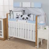 Kit Berço Americano Menino Panda Azul - I9 baby