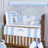Kit Berço Balão Mágico Azul Bebê 11 Peças - Precious baby
