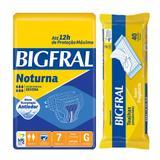 Kit bigfral fralta geriátrica noturna grande 7 unid + toalha umedecida adulto 40 unid
