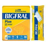 Kit bigfral fralta geriátrica plus média 9 unid + toalha umedecida adulto 40 unid