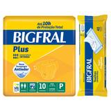 Kit bigfral fralta geriátrica plus pequena 10 unid + toalha umedecida adulto 40 unid