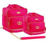 Kit Bolsa Maternidade Trocador Plike Baby Pink TR-DR2
