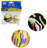 Kit brinquedos para gato 2 bola de eva + 2 pom pom + 2 bola com pena - Western pet