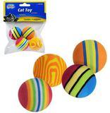 Kit brinquedos para gatos 4 bolas de eva + 2 pom pom - Western pet