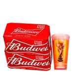 Kit Budweiser Pack 16 Latas 269ml + Copo Oficial