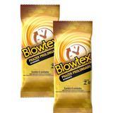 Kit c/ 2 Pacotes Preservativo Blowtex Retardante c/ 6 Un Cada