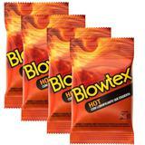 Kit c/ 4 Pacotes Preservativo Blowtex Hot c/ 3 Un Cada
