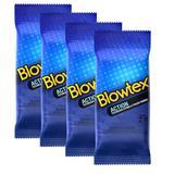 Kit c/ 4 Pacotes Preservativos Blowtex Action c/ 6 Un Cada