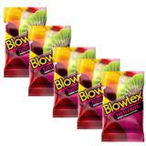 Kit c/ 5 Pacotes Preservativo Blowtex Tutti-Frutti c/ 3 Un Cada