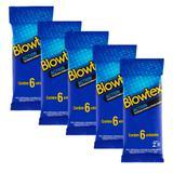 Kit c/ 5 Pacotes Preservativos Blowtex Action c/ 6 Un Cada - Fabrica de artefatos de latex blowtex lt