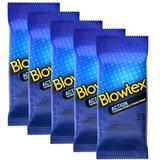 Kit c/ 5 Pacotes Preservativos Blowtex Action c/ 6 Un Cada
