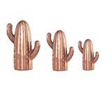 Kit Cacto em Cerâmica 3 pçs Cobre - Mart