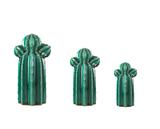 Kit Cacto em Cerâmica 3 pçs Verde - Mart