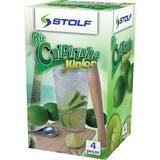 Kit Caipirinha Junior com Copo colher tabua socador - Stolf