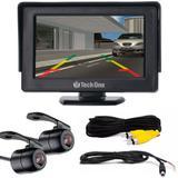 Kit Camera de Re e Camera Frontal com Monitor LCD 4,3 Polegadas TechOne
