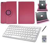 "Kit Capa 360/Can/Pel/Teclado Branco iPad New 2017 9,7 "" Rosa - Bd cases"