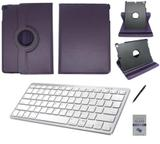 "Kit Capa 360/Can/Pel/Teclado Branco iPad New 2017 9,7 "" Roxo - Bd cases"