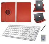 "Kit Capa 360/Can/Pel/Teclado Branco iPad New 2017 9,7 "" Vermelho - Bd cases"