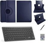"""Kit Capa 360/Can/Pel/Teclado iPad 6 geração 9,7 """" Azul - Bd cases"""