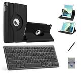 """Kit Capa 360/Can/Pel/Teclado iPad 6 geração 9,7 """" Preto - Bd cases"""