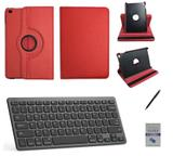 "Kit Capa 360/Can/Pel/Teclado iPad Mini 4 - 7.9"" Verm - Bd cases"