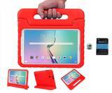 """Kit Capa Anti-Choque Tab E T560/T561 9,6"""" + Pel.(Vermelho) - Bd cases"""