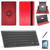 Kit Capa/Can/Pel/Teclado 360 Galaxy Tab S5e SM T725 10.5 Vermelho - Bd cases