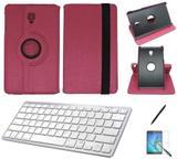 "Kit Capa/Can/Pel/Teclado Branco Galaxy Tab S4 - T835 10,5"" 360 Pink - Bd cases"