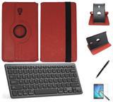"Kit Capa/Can/Pel/Teclado Galaxy Tab S4 - T835 10,5"" 360 Vermelho - Bd cases"
