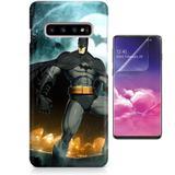 Kit Capa Case TPU Galaxy S10 Batman + Pel Vidro (BD01) - Bd cases