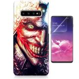 Kit Capa Case TPU Galaxy S10 Coringa Joker Batman Why So Serious + Pel Vidro (BD01) - Bd cases