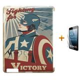 Kit Capa Case TPU iPad 2/3/4 Capitão America The Avengers (BD01) - Skin t18