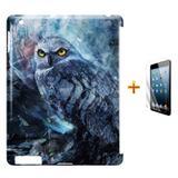 Kit Capa Case TPU iPad 2/3/4 Coruja + Película de Vidro (BD01) - Skin t18