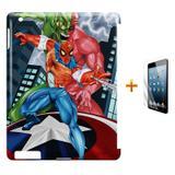 Kit Capa Case TPU iPad 2/3/4 Homem Aranha + Película de Vidro (BD01) - Skin t18