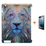 Kit Capa Case TPU iPad 2/3/4 Lion + Película de Vidro (BD01) - Skin t18