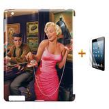 Kit Capa Case TPU iPad 2/3/4 Marilyn Monroe + Película de Vidro (BD01) - Skin t18