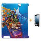 Kit Capa Case TPU iPad 2/3/4 Mario Bros e DK + Película de Vidro (BD01) - Skin t18